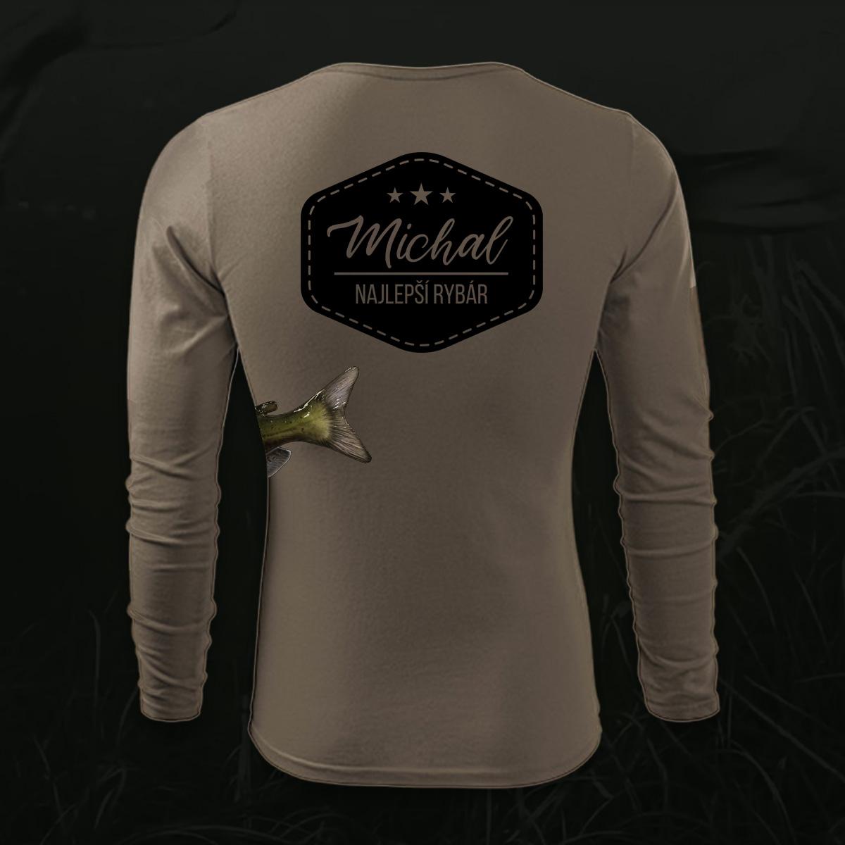 75d286ce720b Tričko pre rybára s vlastným menom - Potlač tričiek a iného oblečenia
